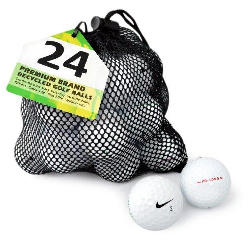 Second Chance Golfbälle 24 Nike PD Lake A-Qualität, weiß, PRE-24-MESH-NIK-PD