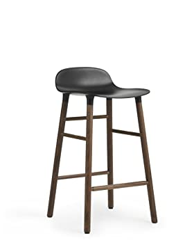 Normann Form Barstool Walnut - Low - Seat height: 65 cm, Black