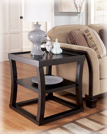 Image of Averille Square End Table by Ashley - Espresso (T297-2) (T297-2)