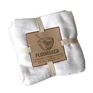 Now Designs Set of 3 Floursack Towels, White