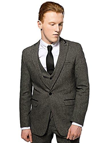 Mens-Marc-Darcy-Tweed-Blazer-Designer-Formal-Dinner-Suit-Jacket-S-M-L-XL-XXL