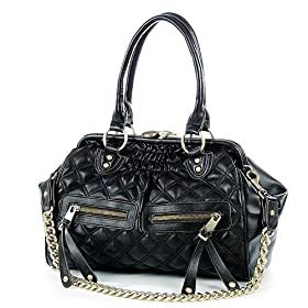 (Price/piece)Lovemauch Multifunctional Vogue Diamond Black Leather Handbag & Shoulder Bag, Satchel Bag