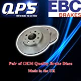 EBC Rear Brake Discs (Rotors) for BMW 118 2.0 (E81), 2007->2011