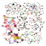 100pcs Mixed Style Ball Belly Navel L...
