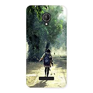 Back To Home Back Case Cover for Micromax Canvas Spark Q380