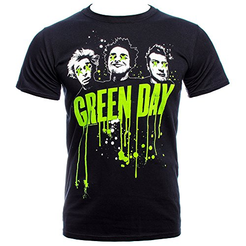 T Shirt Dei Green Day Gocciolature (Nero) - Small