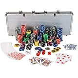 "Ultimate Pokerset mit 500 hochwertigen 12 Gramm METALLKERN Laserchips, inkl. 2x Pokerdecks, Alu Pokerkoffer, 5x Wrfel, 1x Dealer Button, Poker, Set, Pokerchips, Koffer, Jetonsvon ""Maxstore"""