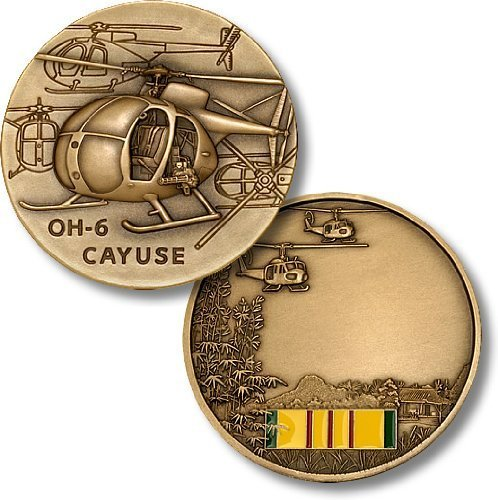 OH-6 Cayuse / Vietnam Engravable Challenge Coin