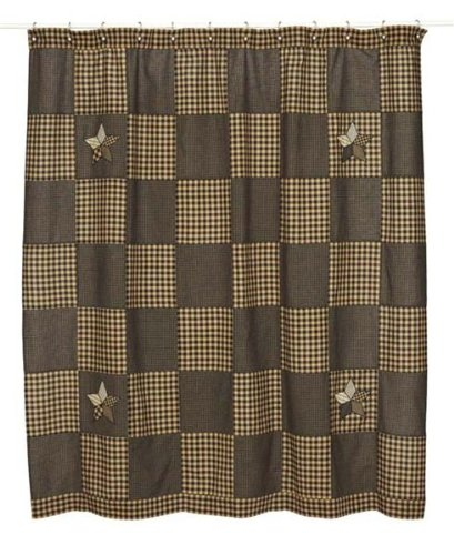 Farmhouse Star Shower Curtain In Patchwork Star Pattern front-464029