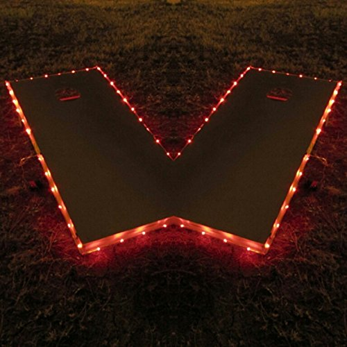 Pro Glow Cornhole Lights (Red) (Steeler Corn Hole Bags compare prices)