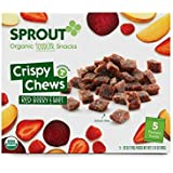 Sprout Organic Foods Toddler Crispy Chews, Red Berry & Beet, 3.15 Ounce