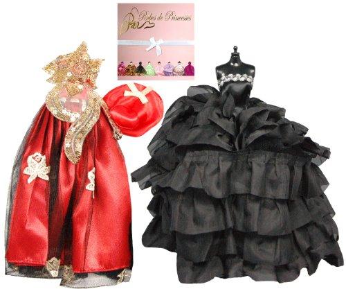 """Vestito da principessa """"PLAISIR"""" per Bambole Barbie, Disney ed altri personaggi"""