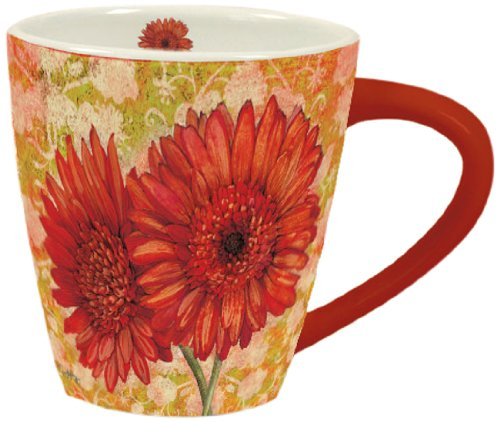 Artisan Lang  Orange Blooms Cafe Mug