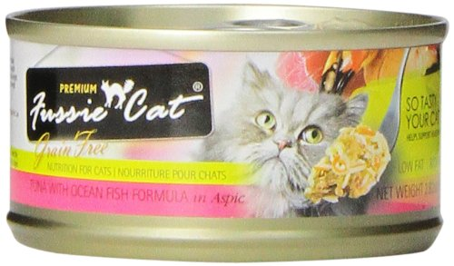 Fussie Cat Premium Tuna with Ocean Fish Canned Cat Food - 24 - 2.82-oz. Cans