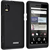 Insten Two Rubberized Hard Case Compatible with Motorola A955 Droid 2, Black