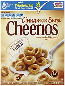 Cinnamon Burst Cheerios Cereal, 10 Ounce (Pack of 4)