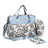 Baby Diaper Bag Set,Light Blue