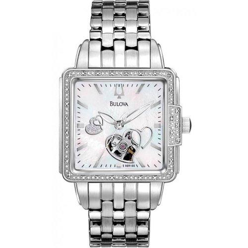 a2f21d8c78c5 Bulova 96R155 Ladies Mechanical Diamond Watch - Homononoenroaea