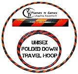 HULA HOOP / Weighted & Fitness Travel Hoola Hoops Black/ UV Orange)