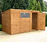 10' x 6' Wooden Overlap Clad Pent Shed