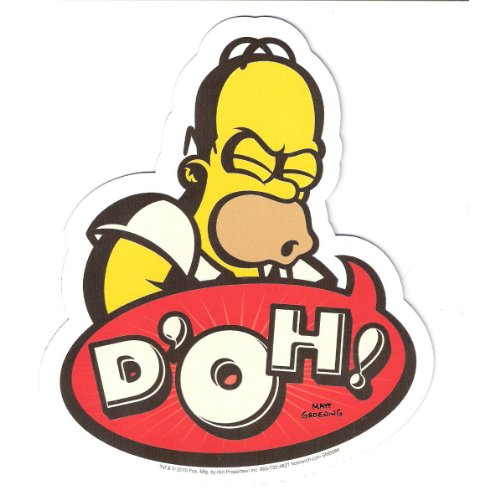The Simpsons Homer D'Oh! Car Magnet