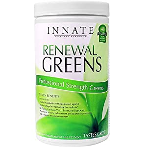 Innate Response - Renewal Greens, Daily Greens Blended with a Broad Spectrum of Fruits and Vegetables, 300 Grams