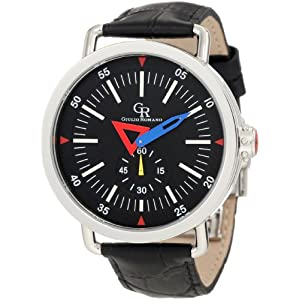 Giulio Romano Men's GR-1001-04-007 Toscana Round Black Leather Watch