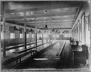 photo us naval prison portsmouth nh c1915 bowling alleys pins prints posters. Black Bedroom Furniture Sets. Home Design Ideas