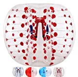 バブルサッカー直径5'(1.5m)人類ハムスタ一ボール、バブルボール、バンパーボール、ゾーブ、サイクルボール、循環ボール(赤色点)