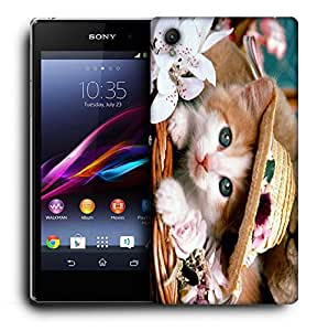 Snoogg Cute Kitty Designer Protective Back Case Cover For SONY XPERIA Z1 L39H