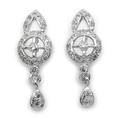 3.10 Grams American Diamond Brass Earrings