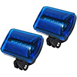 Personal Flashing Safety Light with Belt Clip (Set of 2) - up to 100 hours - Water Resistant