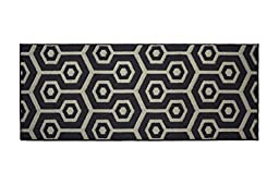 Jean Pierre Honeycomb Textured Decorative Accent Runner, 24 x 60\