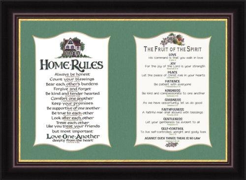Home Rules & Fruit of the Spirit - Framed Inspirational
