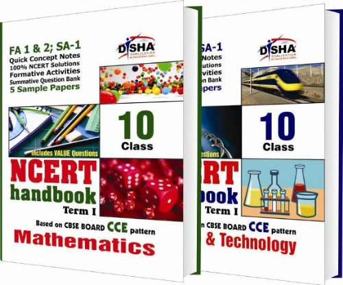 NCERT Handbook Term 1 - Science & Mathematics: Class 10 (NCERT Solutions + FA activities + SA Practice Questions & 5 Sample Papers)