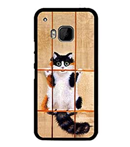 Vizagbeats Cat in Jail Back Case Cover for HTC One M9