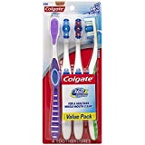 Colgate 360 Degree Adult Full Head Toothbrush, Soft, 4 Count