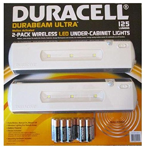 Duracell Durabeam Ultra 2-Pack Wireless Led Under-Cabinet Lights Motion Activated