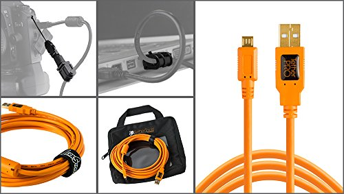 Starter Tethering Kit with Orange USB 2.0 Micro-B 5 Pin Cable 15' (Electronic Tether compare prices)