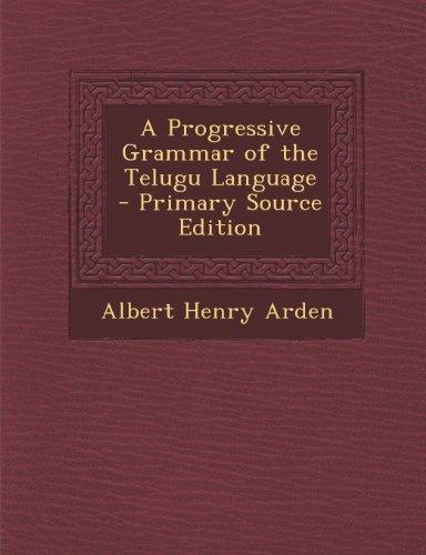 A Progressive Grammar of the Telugu Language