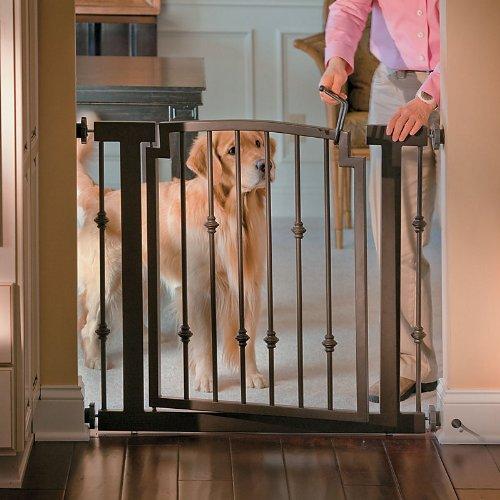 Wrought Iron Doorway Pet Gate - Mocha - Improvements front-42631