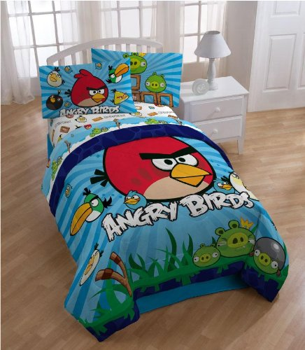 Angry Birds Twin Comforter Set WITH Twin Sheet Set