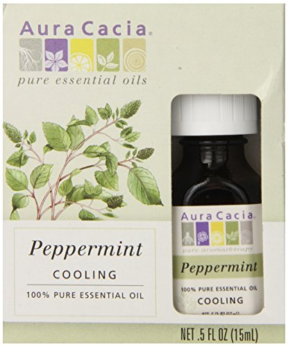 Aura Cacia Essential Oil, Peppermint, 0.5 Ounce