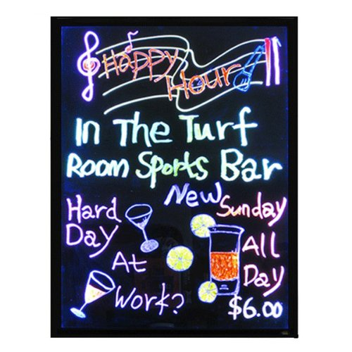 Image® Flashing Illuminated LED Lighted Writing Board 7 Color Lights 28 Modes up to 28 Feet Romote Control Restaurant Menu Boards Party Daily Specials Promotions etc