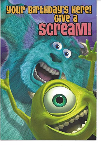 Monsters Inc Birthday Card w/ Cut Out Light Switch Plate w/ Gift Bag - 1