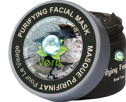 Veris Dead Sea Cosmetics, Dead Sea Mud & Algae Purifying Facial Mask for All Skin Types