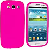Hot Pink Silicone Rubber Gel Soft Skin Case Cover for Samsung Galaxy S3 S III i9300 / I535 / L710 / T999 / I747