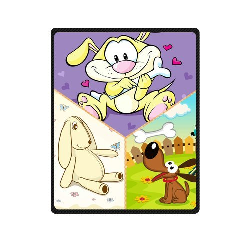 "Personalized Cute Dogs Jigsaw Blanket 40""X 50""(Small) front-899583"