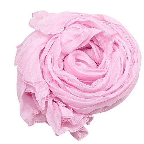 Toptie Women'S Stylish Pleated Scarf Shawl Various Colors, Gift Idea Pink