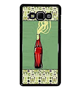 PrintDhaba Bottle D-6036 Back Case Cover for SAMSUNG GALAXY E7 (Multi-Coloured)